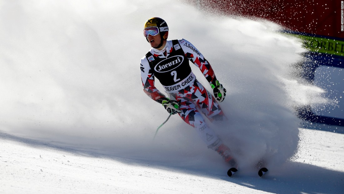 Hirscher told reporters he 'barely' trains for super-G -- Saturday's victory in the discipline was the first in his career at World Cup level.
