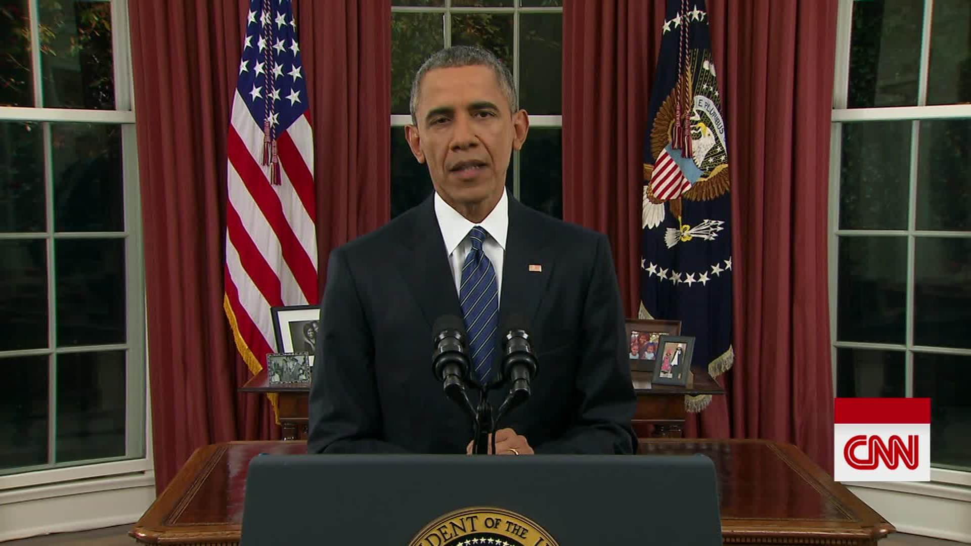 Obama Oval Office Address Not So Much >> President Obama S Full Oval Office Address Cnn Video