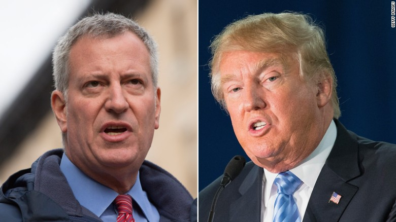 Bill de Blasio: Trump doesn't represent our democracy