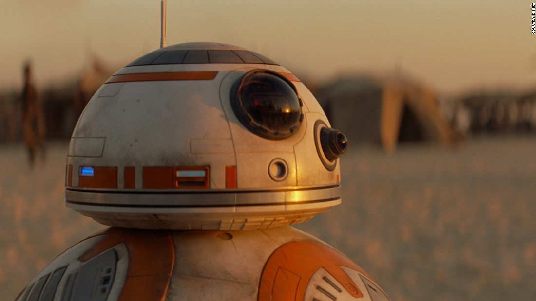 Unlike R2-D2, which was controlled from the inside by Kenny Baker, BB-8 was automated, and came in eight incarnations. Some were remote controlled and one was controlled by puppeteers Brian Herring and Dave Chapman. Other versions were specialized: one had a super-articulating head and another would right itself like a weeble.