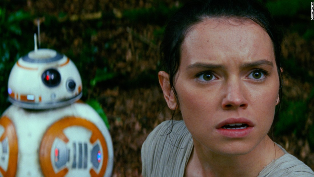 BB-8 was the breakout star from the trailers. Fans pondered whether the droid was CGI, and the mystery remained until Denton and Lee were finally allowed to break their silence. It turns out that a little computer tinkering was required, but only to remove the stabilizers necessary for BB-8 to stay upright in challenging shots, such as those filmed in the desert.