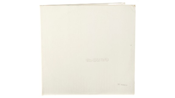 """Starr's personal copy of the 1968 album known as the """"White Album"""" fetched $790,000. The album is stamped with the serial number A0000001, indicating it was the very first pressing of the disc. Julien's Auctions said the sale more than doubled the previous record vinyl sale -- an Elvis Presley disc that sold for $300,000."""