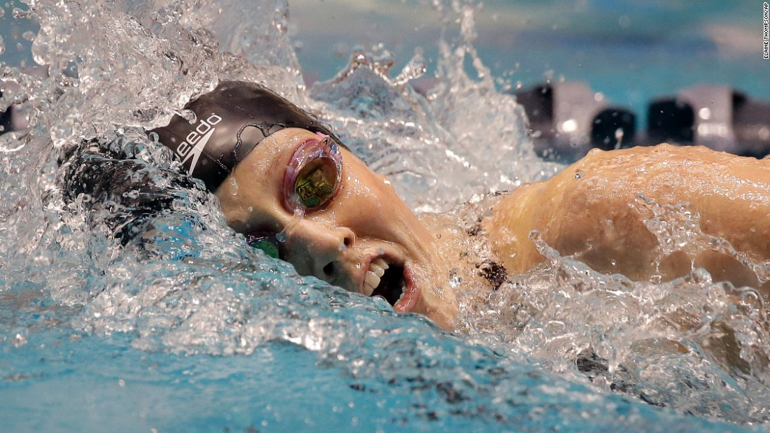 Missy Franklin races the 200-meter freestyle at the U.S. Winter Nationals on Friday, December 4. Franklin finished second in the event but won the 100-meter backstroke and the 200-meter backstroke.