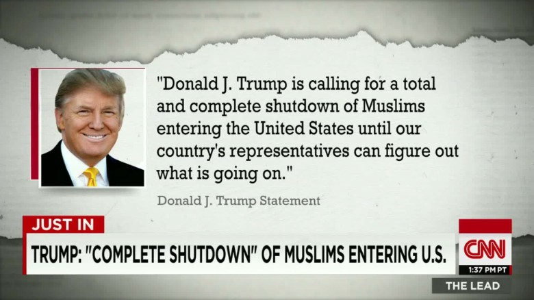 Trump: Bar all Muslims from entering U.S.