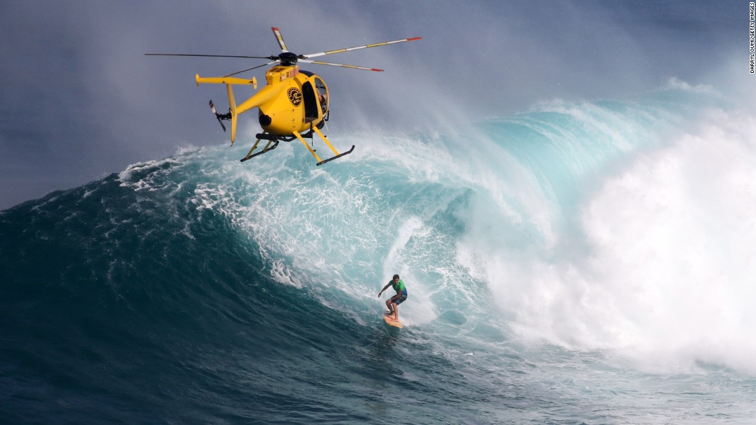 Professional surfer Albee Layer drops into a wave in Wailea, Hawaii, on Sunday, December 6.