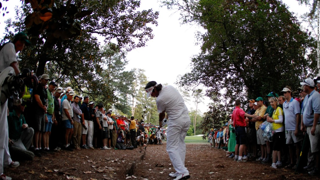 Bubba Watson conjured a miraculous hook out of the trees on Augusta's 10th hole in the play-off against Louis Oosthuizen to set up his first Masters title in 2012.