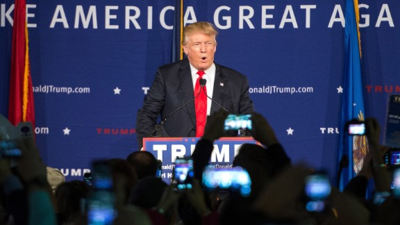 MT. PLEASANT, SC - DECEMBER 7: (EDITORS NOTE: Retransmission with alternate crop.)  Republican presidential candidate Donald Trump speaks to the crowd at a Pearl Harbor Day Rally at the U.S.S. Yorktown December 7, 2015 in Mt. Pleasant, South Carolina. The South Carolina Republican primary is scheduled for February 20, 2016. (Photo by Sean Rayford/Getty Images)