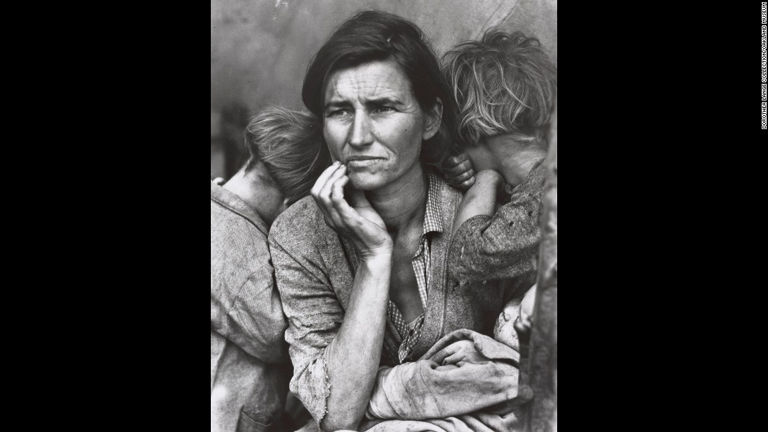 Migrant mother a photo of florence owens thompson and her children