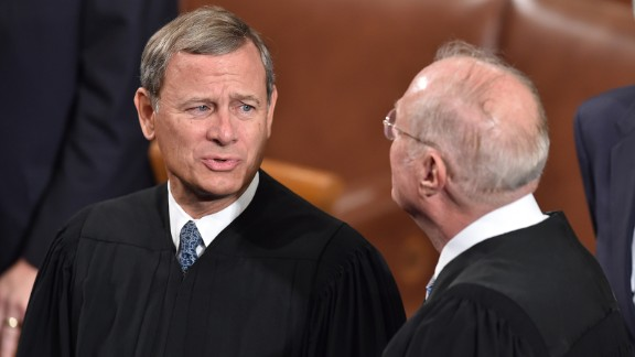 John Roberts and other members of the US Supreme Court arrives before Pope Francis addresses the joint session of Congress.