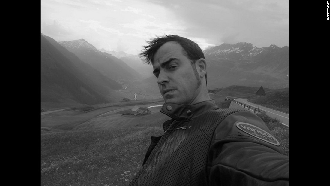 "For his first Instagram post, actor Justin Theroux <a href=""https://www.instagram.com/p/-zEwBtQ4i0/?taken-by=justintheroux"" target=""_blank"">takes a selfie</a> on Wednesday, December 2."