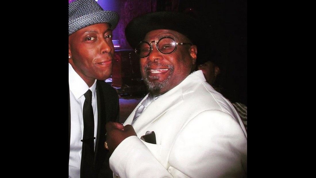 "Talk-show host Arsenio Hall, left, takes a selfie with legendary musician George Clinton on Friday, December 4. ""Funk personified,"" <a href=""https://www.instagram.com/p/-4fPapQiob/?taken-by=arseniohall"" target=""_blank"">Hall said on Instagram.</a> ""Still funkin' around!"""