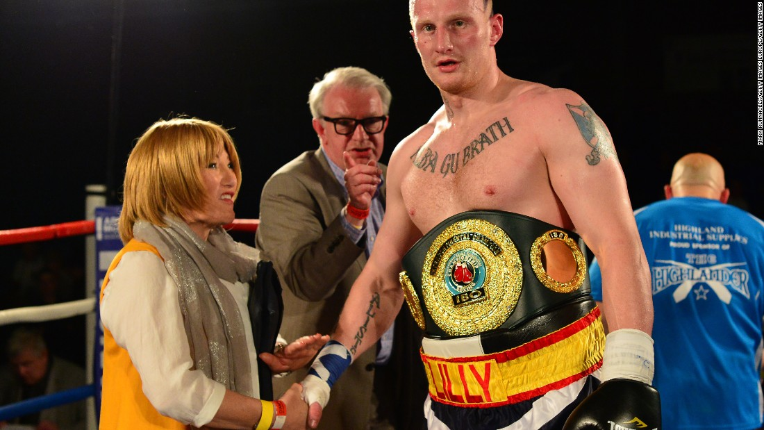 Maloney says her managing style has softened since transitioning and she's more likely to speak to the wives and girlfriends of her clients about their emotional state.<br />Here, she celebrates with Gary Cornish after he beat Zoltan Csala during an IBO intercontinental heavyweight fight in Scotland in May 2015.
