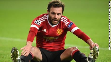 WOLFSBURG, GERMANY - DECEMBER 08:  Juan Mata of Manchester United reacts after a missed chance on goal during the UEFA Champions League group B match between VfL Wolfsburg and Manchester United at the Volkswagen Arena on December 8, 2015 in Wolfsburg, Germany.  (Photo by Stuart Franklin/Bongarts/Getty Images)