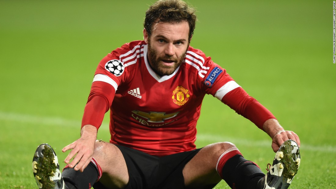 Juan Mata of Manchester United reacts after a missed chance on goal during the UEFA Champions League group B match between VfL Wolfsburg and Manchester United at the Volkswagen Arena on December 8, 2015 in Wolfsburg, Germany.