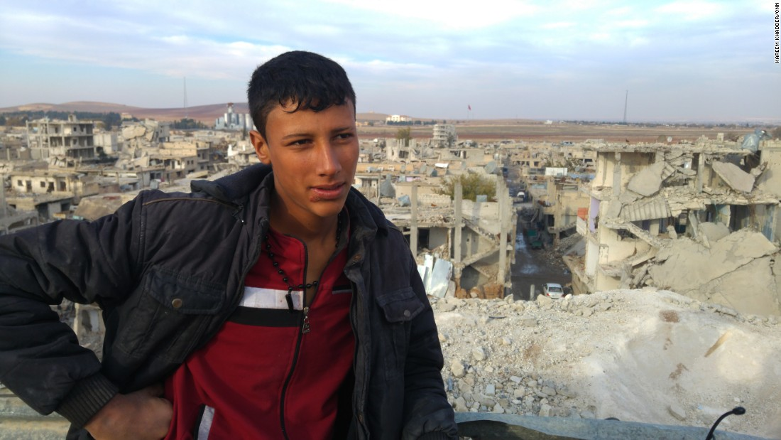 17-year-old Hamouda is a Kobani resident whose hobby is raising pigeons -- a pastime banned by ISIS because it's a waste of time. He fled with his family to Turkey across the border during the five-month battle for Kobani.
