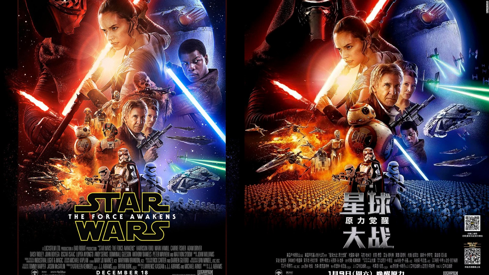 Star Wars: The Force Awakens' China poster 'racist' - CNN