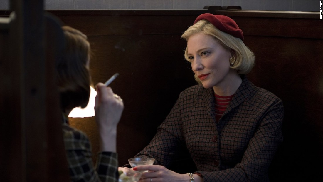 "Cate Blanchett's performance in ""Carol"" earned her a nomination for outstanding performance by a female actor in a leading role. Brie Larson (""Room""), Helen Mirren (""Woman in Gold""), Saoirse Ronan (""Brooklyn"") and Sarah Silverman (""I Smile Back"")were also nominated."