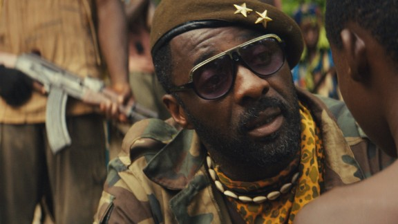 """Idris Elba in """"Beasts of No Nation"""", directed by Cary Fukunaga and shot in Ghana. Netflix bought its worldwide distribution rights for $12 million."""