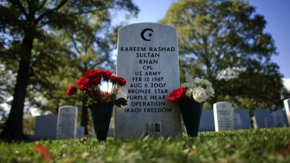 Kareem Rashad Sultan Khan is buried in Arlington National Cemetery. He was one of thousands of Muslims who have served in the U.S. military.