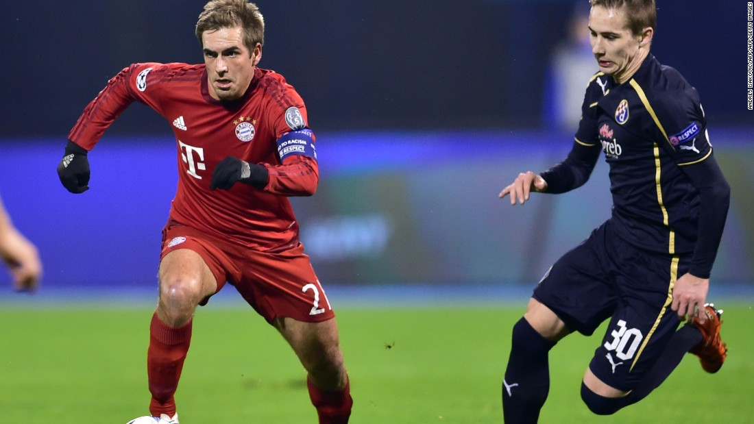 Bayern Munich finished top of Group F after a 2-0 win at Dinamo Zagreb.