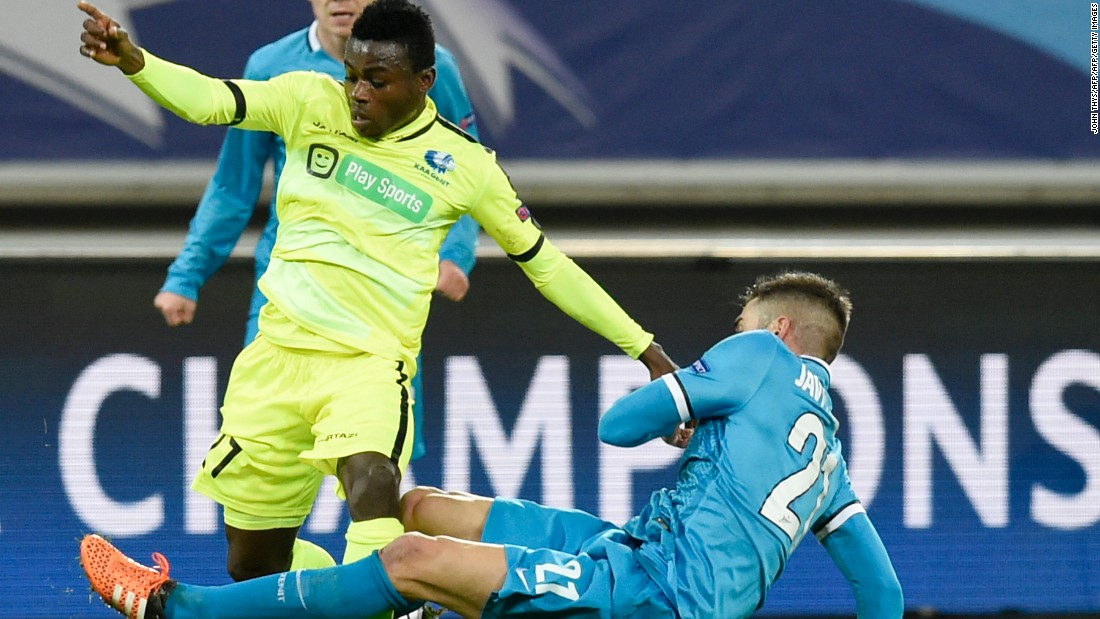 Gent overcame Zenit St Petersburg 2-1 in Belgium to book its place in the next round of the competition for the first time in its history.