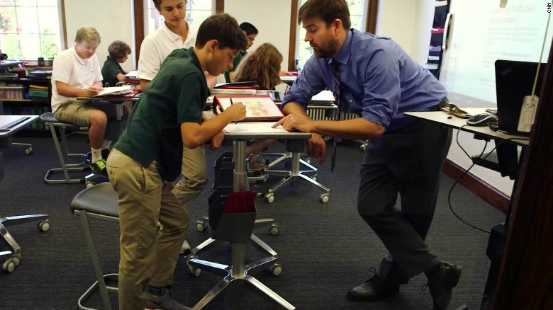 Students Using Standing Desks To Learn Cnn