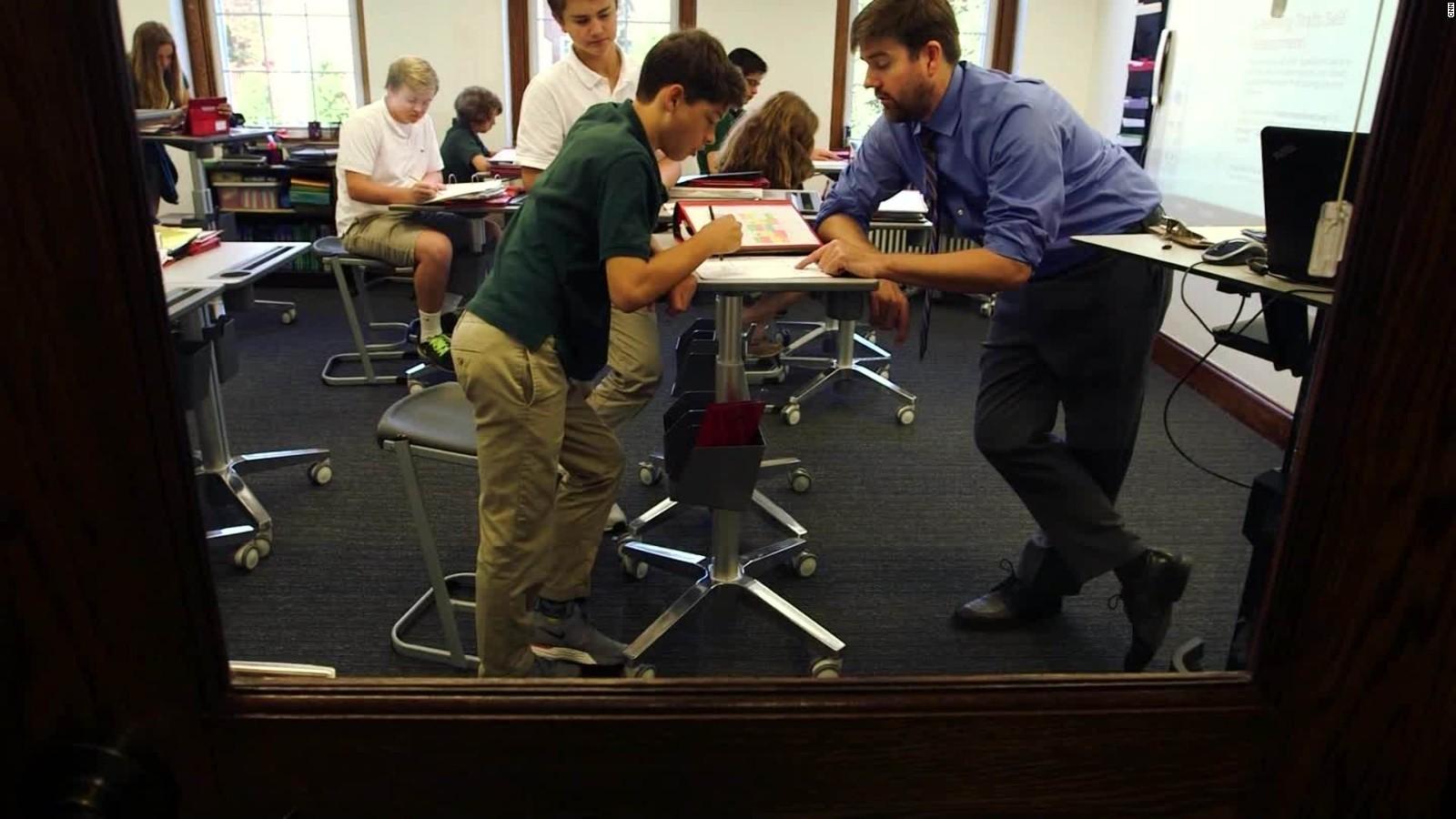 Super Students Using Standing Desks To Learn Cnn Download Free Architecture Designs Intelgarnamadebymaigaardcom