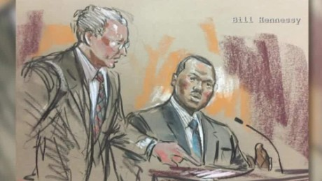 An artist's rendering of William Porter's testimony.