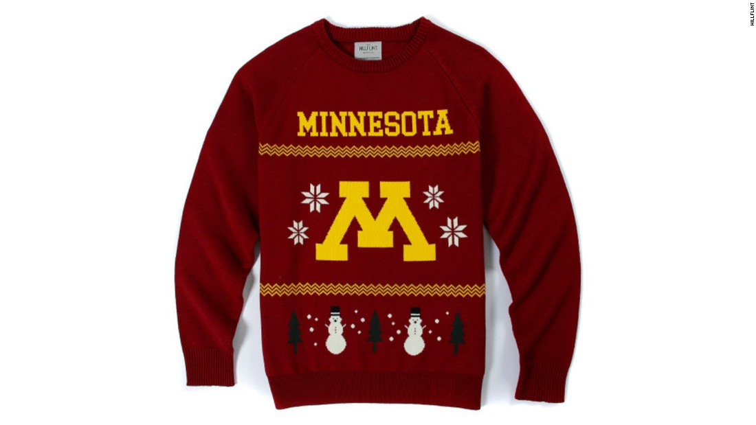 "Show some school spirit with these <a href=""https://www.hillflint.com/sweaters/college-vault"" target=""_blank"">old-school college sweaters</a>, available in the colors of dozens of major schools, from Air Force to Yale."