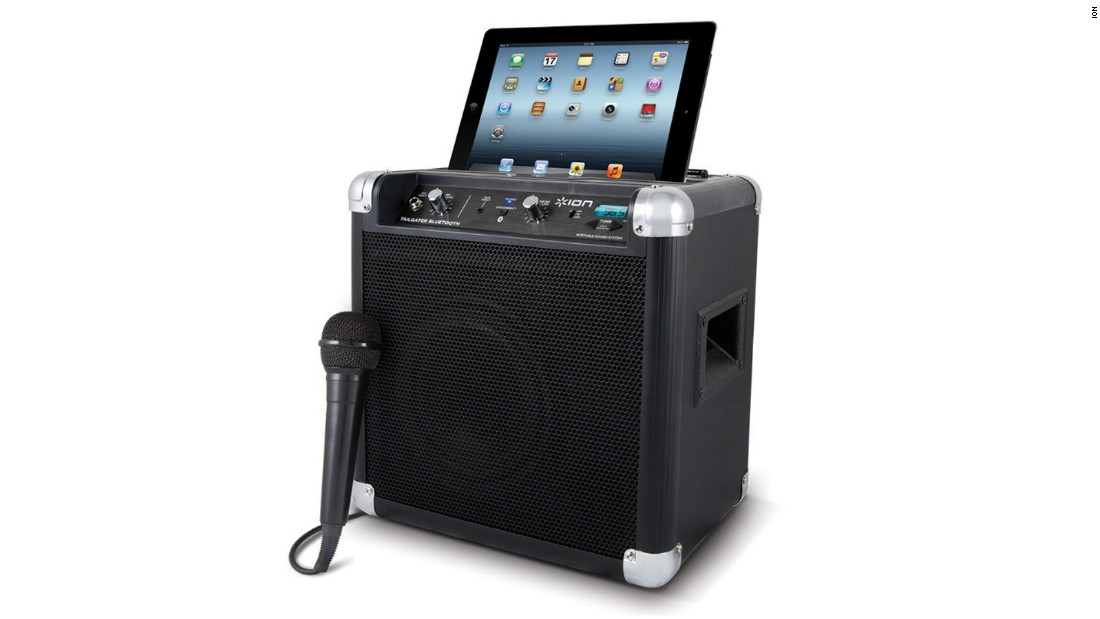 "Pump up the jams in the tailgate parking lot with this rugged <a href=""http://www.ionaudio.com/products/details/tailgaterbluetooth"" target=""_blank"">wireless speaker</a>, which streams tunes via Bluetooth from your smartphone or other mobile device. It also has a built-in AM/FM radio for listening to the game."