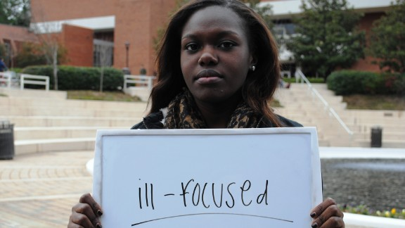 """Janelle Owusu from Georgia Tech in Atlanta describes the election as """"ill-focused."""" She is personally concerned about health care."""
