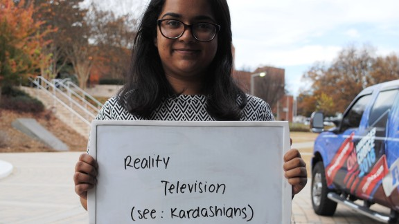 "Sanjana is an International Affairs major from Georgia Tech. She describes the elections as being similar to a reality show such as ""Keeping Up with the Kardashians."""