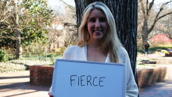 """This is Gina from Vanderbilt University in Nashville, Tennessee. Her one word for the election? """"Fierce."""" She's mostly concerned with the rising cost of education and """"the burden it puts on us entering the workforce."""""""