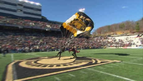Army's game ball delivery is a must see