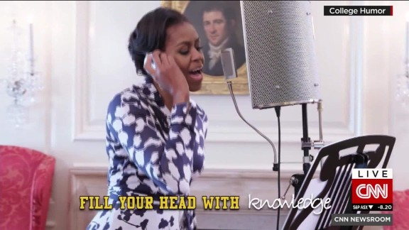 first lady michelle obama jay pharoah college rap sot nr_00004112.jpg