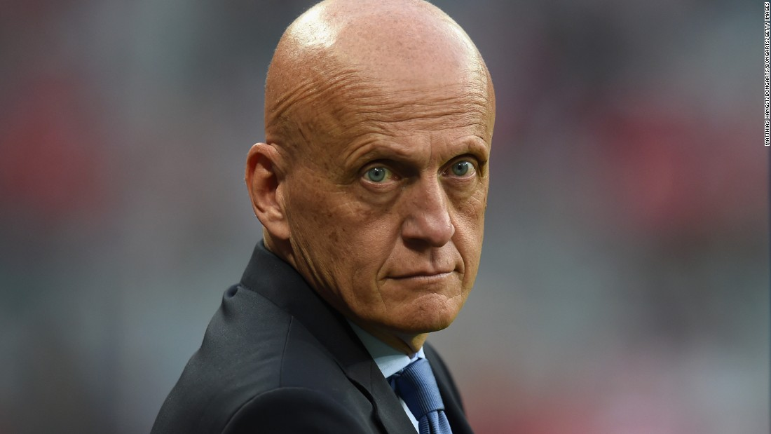 Retired referee Pierluigi Collina had been asked to officiate the match but withdrew due to his position on the UEFA Referees Committee.