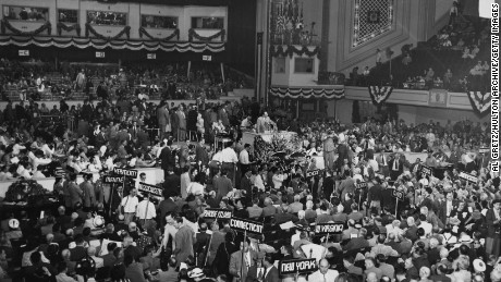 A view of the Republican National Convention in Philadelphia, Pennsylvania on June 21, 1948.