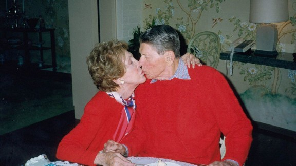 President Ronald Reagan was diagnosed with Alzheimer's after his presidency.