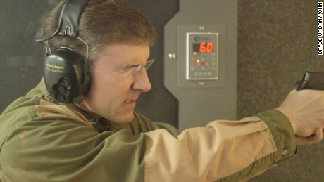 A champion rifle shooter as a teen, O'Grady is adept with a pistol, too.