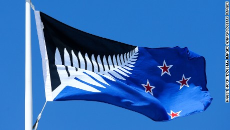 The Silver Fern (black, white and blue) will go up against the existing New Zealand in a vote in March 2016.