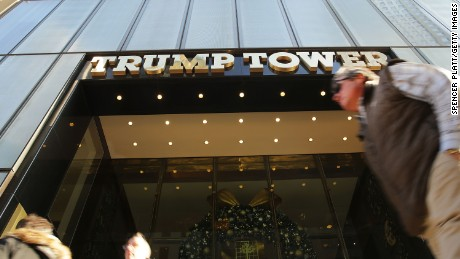 People walk by the Trump Tower in Midtown Manhattan on December 8, 2015 in New York City. Donald Trumps latest incendiary remarks concerning Muslims has led to criticism across the nation, including many of his fellow GOP presidential candidates.