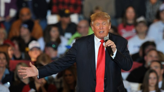 Republican Presidential Candidate Donald Trump speaks at a Town Hall style campaign rally at the Varied Industries Building at Iowa State Fair Grounds on December 11, 2015, in Des Moines, Iowa.