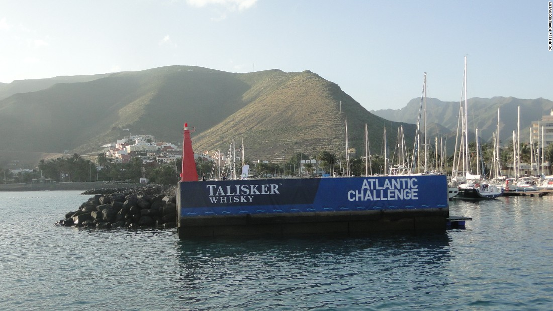 "The race departure point in La Gomera. All being well, the team will arrive roughly six weeks later in Antigua in the Caribbean. It is known as the <a href=""https://www.taliskerwhiskyatlanticchallenge.com/"" target=""_blank"">""world's toughest rowing race.""</a>"