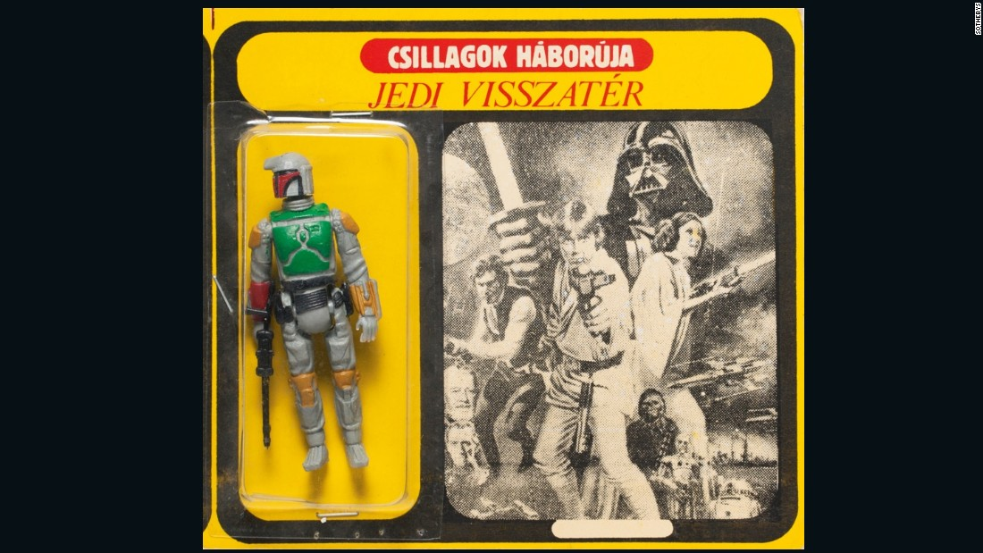 "This 6 by 9 inches rarity is in great condition and features the Hungarian title for Return of the Jedi: ""Jedi Visszatér."" It sold for three times as much as it was expected to."