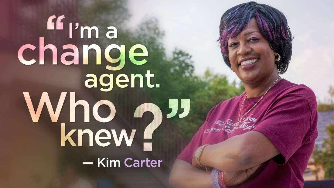 Kim Carter and her nonprofit in San Bernardino, CA, have helped more than 800 homeless women and their children reclaim their lives.