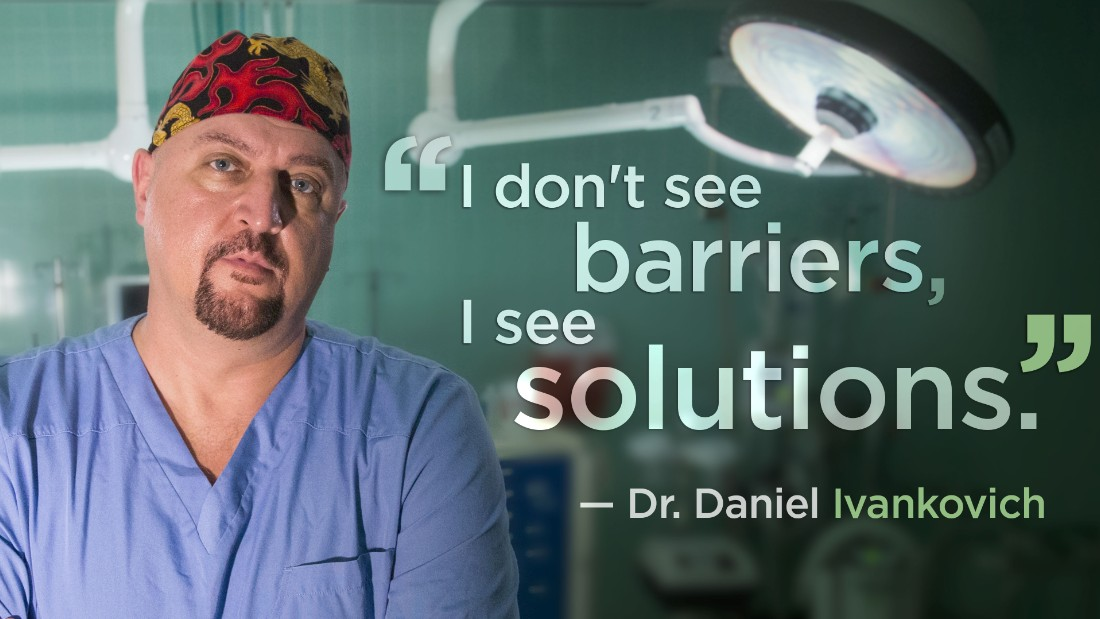 Dr. Daniel Ivankovich is an orthopedic surgeon who treats patients in Chicago's troubled neighborhoods, regardless of their ability to pay.