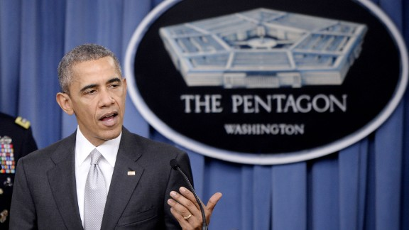 U.S. President Barack Obama delivers a statement on the counter-ISIL campaign in the Pentagon briefing room December 14, 2015 in Arlington, Virginia. President Obama met previously with a National Security Council on the counter-ISIL campaign. (Photo by Olivier Douliery-Pool/Getty Images)