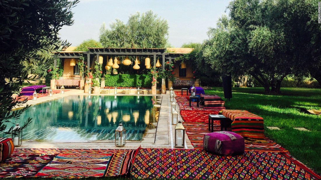 "<a href=""https://www.instagram.com/mmontagueliving/"" target=""_blank""><strong>Maryam Montague</strong></a><strong>, interior designer and hotelier, Marrakesh, Morocco.</strong><br /><br />By the poolside at Montague's boutique hotel, Peacock Pavillions. ""I love creating a Moroccan lounge-y feel for parties outside,"" she says. ""The relaxed bohemian vibe, with plenty of color and pattern, makes everyone want to dance!"""