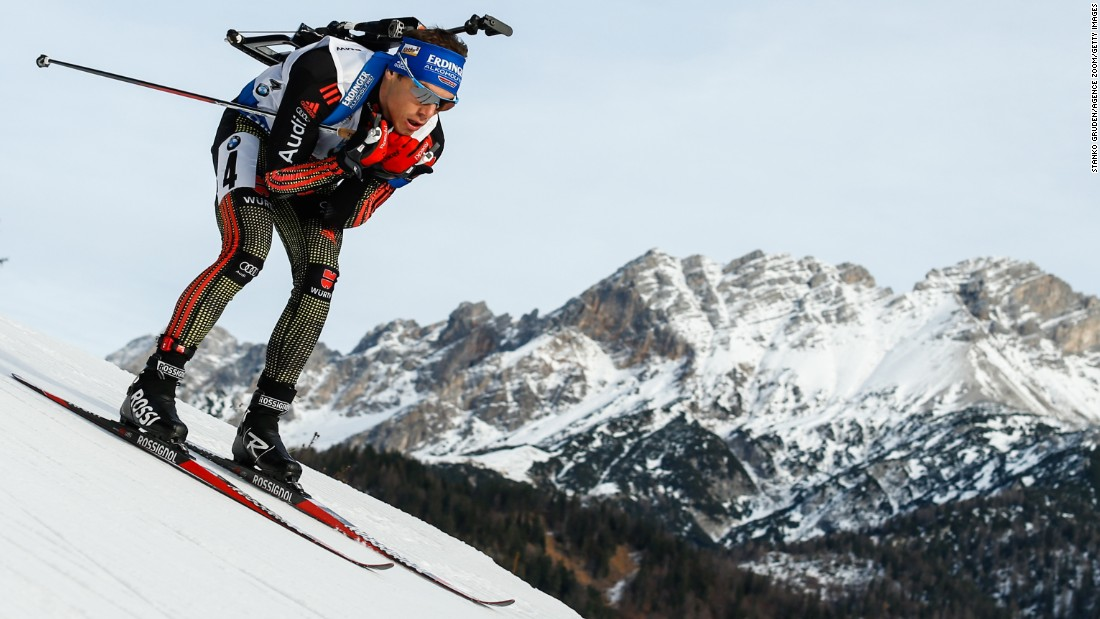 "German biathlete Simon Schempp skies down a mountain on his way to winning the 10-kilometer sprint Friday, December 11, at the World Cup event in Hochfilzen, Austria. <a href=""http://www.cnn.com/2015/12/08/sport/gallery/what-a-shot-sports-1208/index.html"" target=""_blank"">See 39 amazing sports photos from last week</a>"