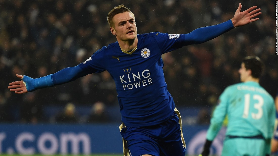 Jamie Vardy and Leicester City are enjoying an incredible English Premier League season. Despite starting the season as one of the favorites to be relegated, the Foxes sit top of the table. Vardy has been in sensational form and recently set a new EPL record by scoring in 11 consecutive matches. He opened the scoring in Leicester's thrilling 2-1 win over reigning champion Chelsea on Monday.